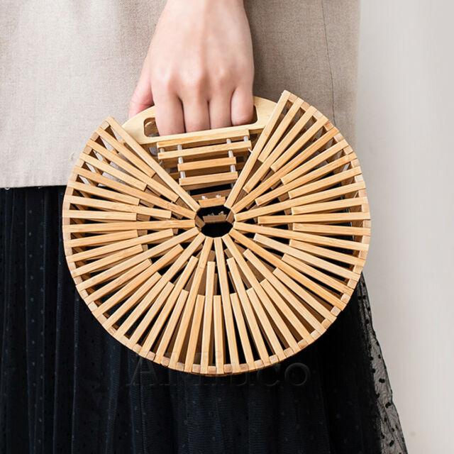 How long high-end wicker handbag
