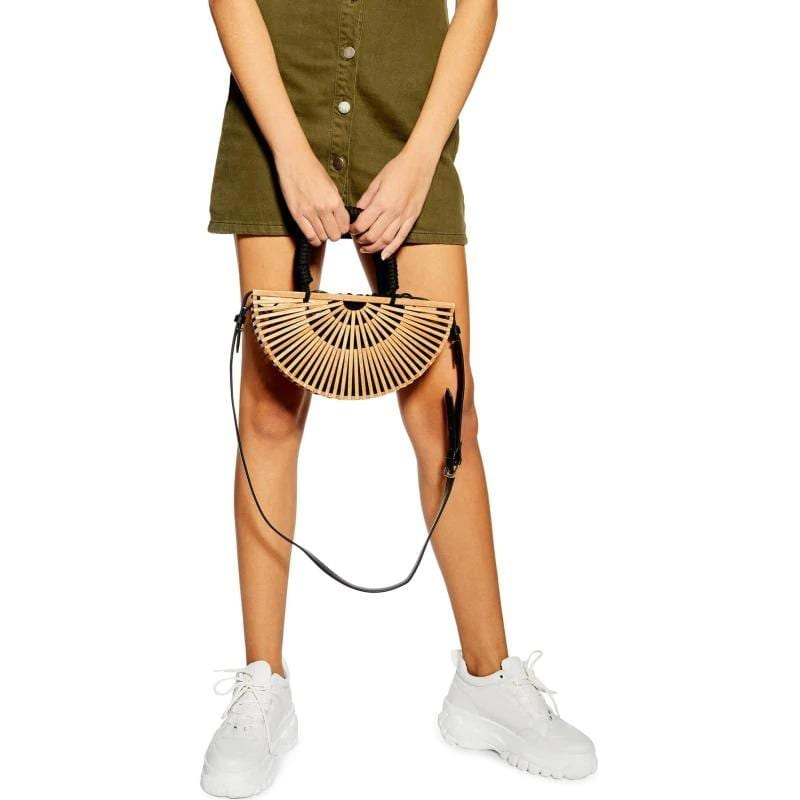 How casual wicker backpack