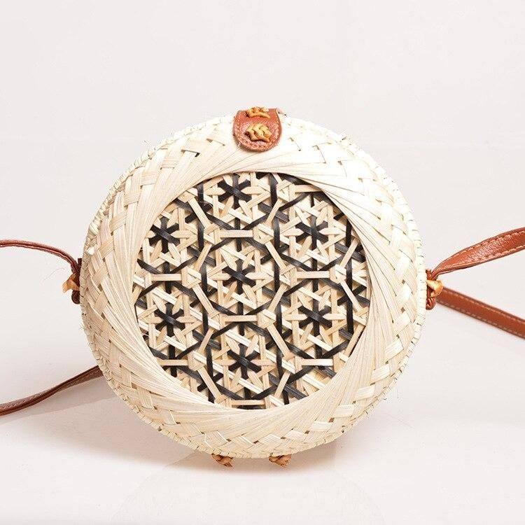 Round straw bag bali quality