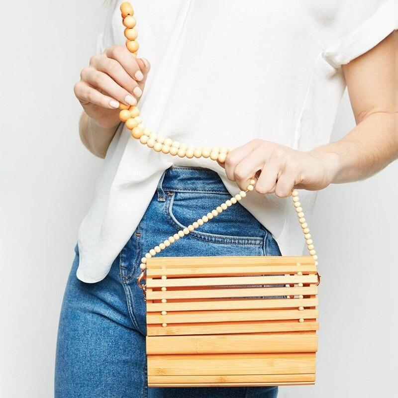 How long small woven leather tote best