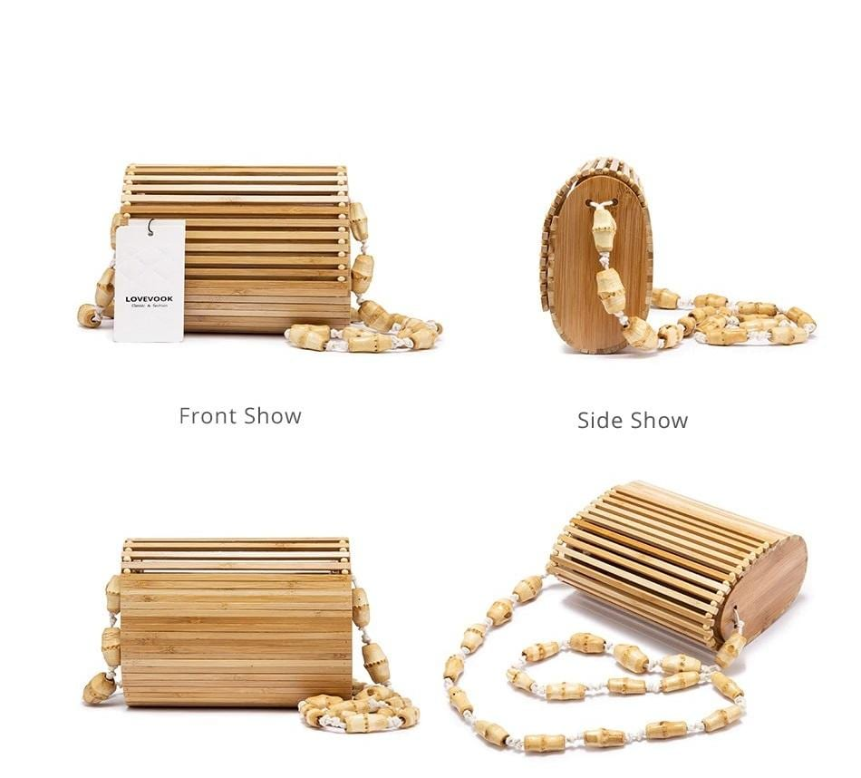 How designer straw handbag