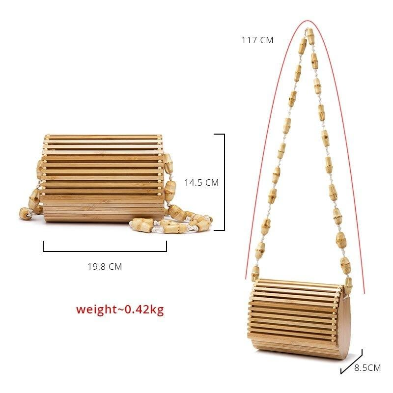 Brown wicker clutch recomment