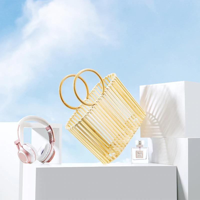 How much rattan designer straw handbags better