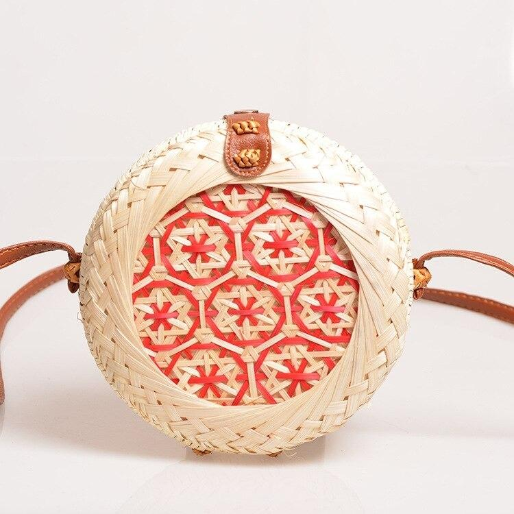 What circular woven leather bag 2021