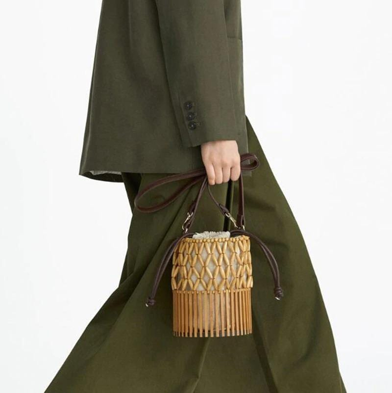 Quality wicker purse