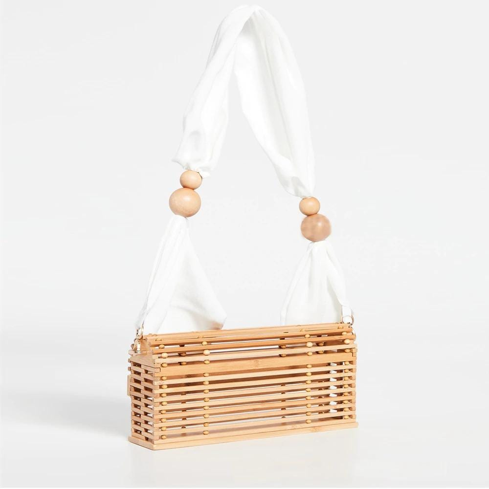 Straw and leather handbag bali value