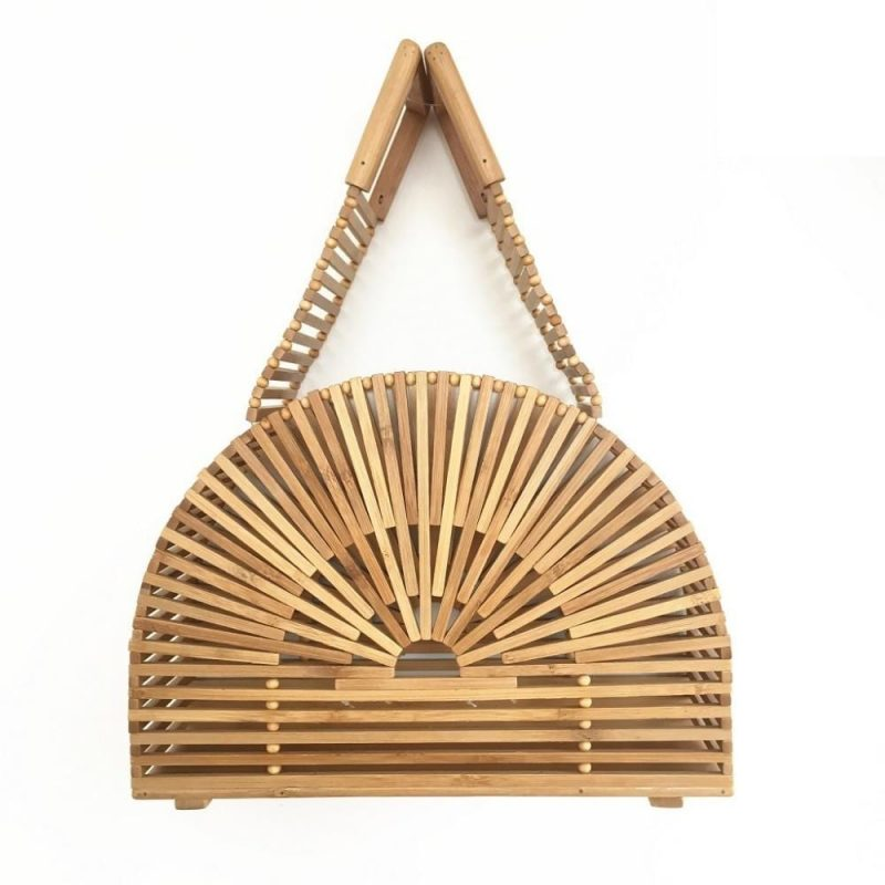 Luxury Fashion Bamboo Bag - Half Moon Bamboo Bag - Hollow Out Style