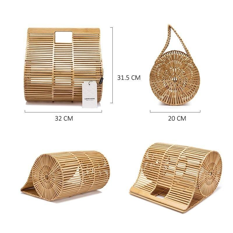How travel wicker clutch