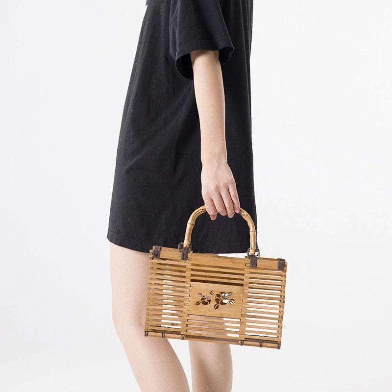 When mango wicker handbag premium