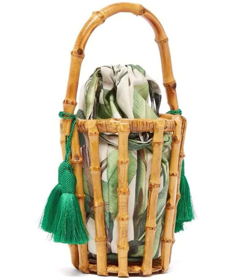 Straw basket bags beach