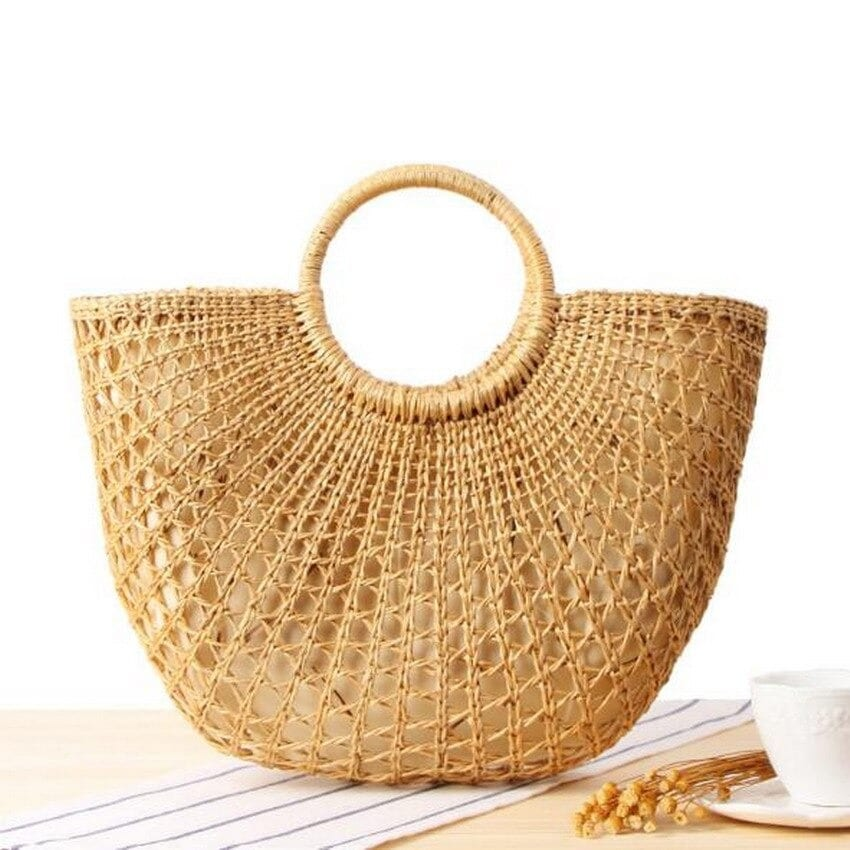 Knitted straw tote best