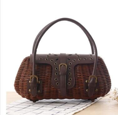Why casual wicker handbag