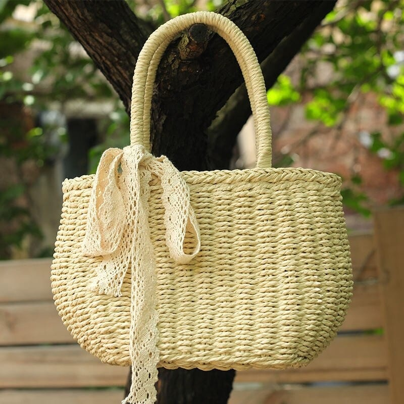 Why half moon straw handbag