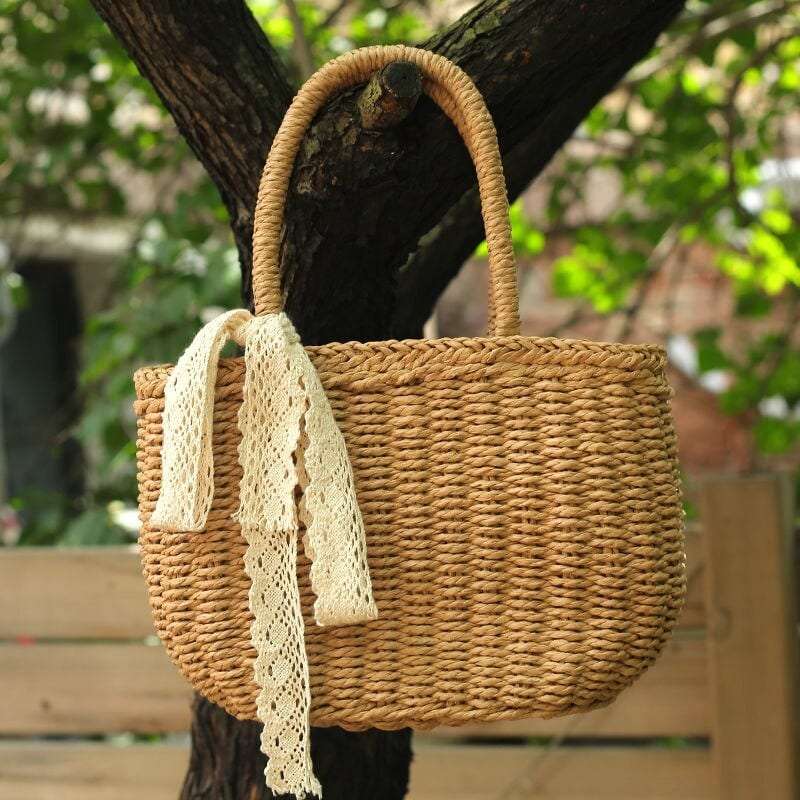 Straw shoulder bags online shop