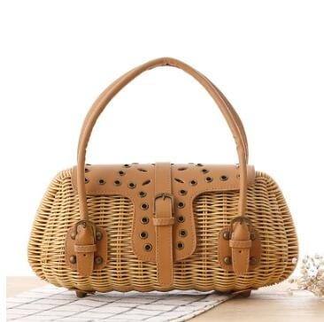 Native woven leather bag premium