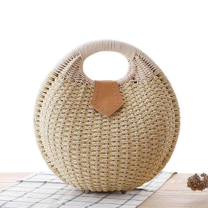 Basket rattan bag