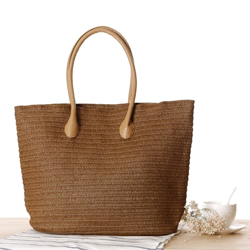 When quality summer straw bag