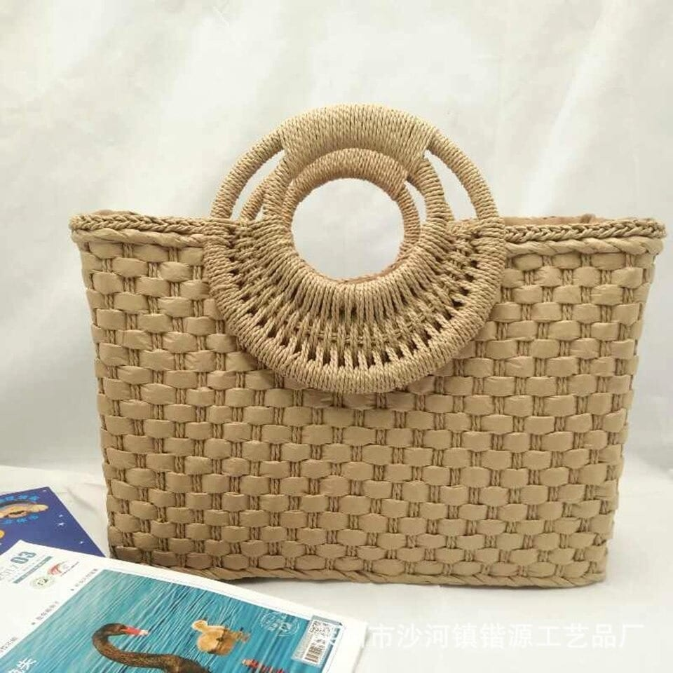Why mango woven leather handbag
