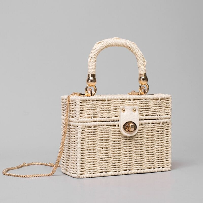 Luxury straw purse recomment