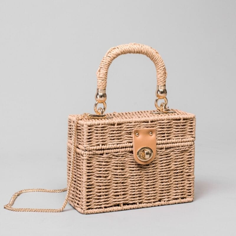 Metal wicker clutch