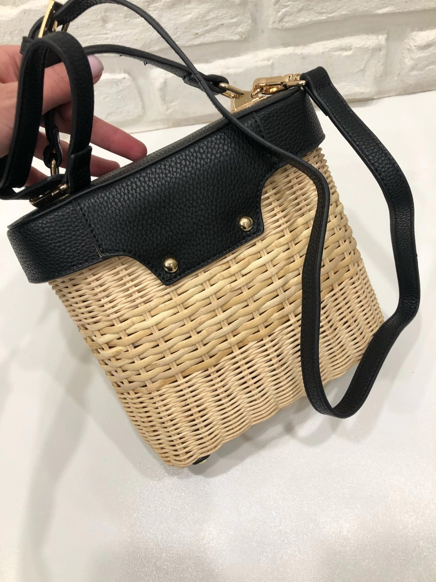 Rattan and woven purse better