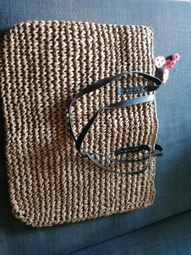 Designer straw pocketbook value