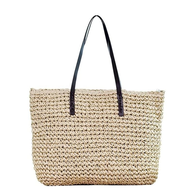 Shoulder summer straw purse