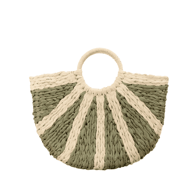 Small woven designer straw bags