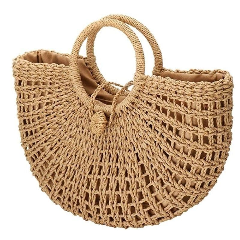 How much woven straw totes for summer better