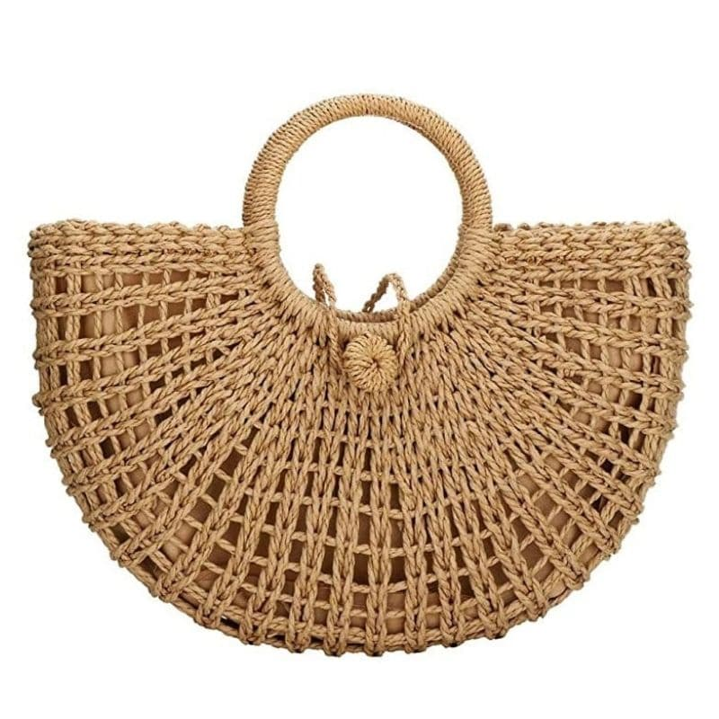 Straw woven bag rattan suggest