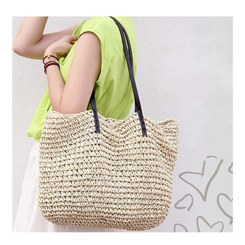 Where woven woven leather handbag suggest
