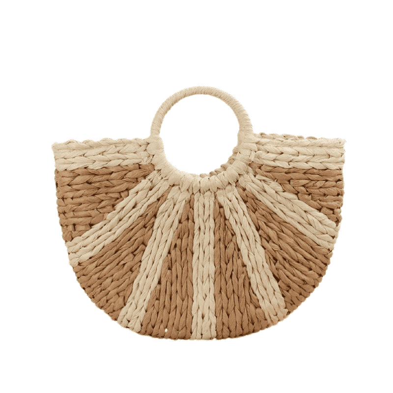 Round straw crossbody bags summer good