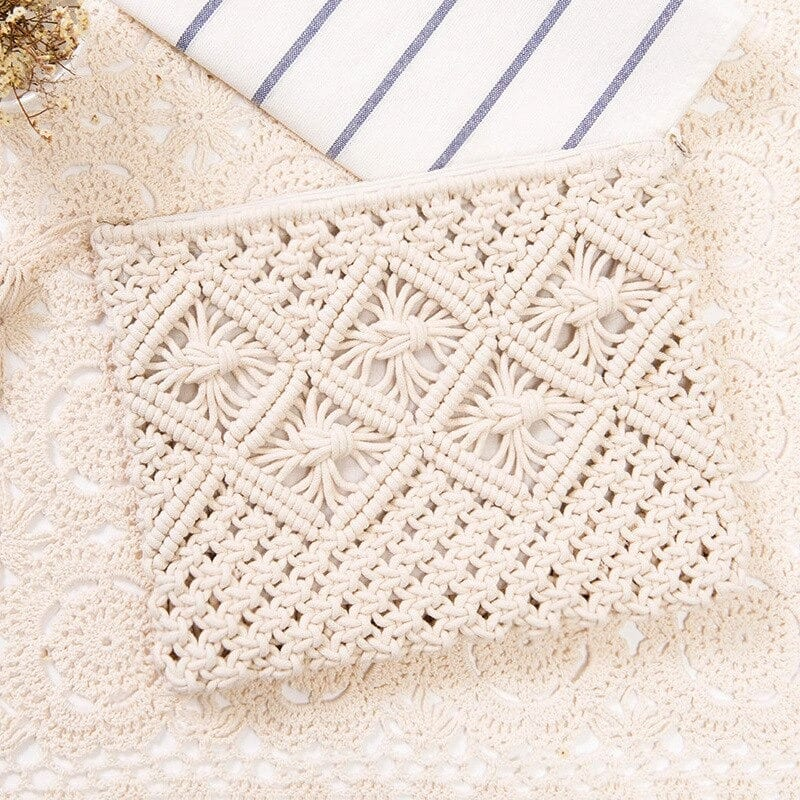 Where vacation woven crossbody bag