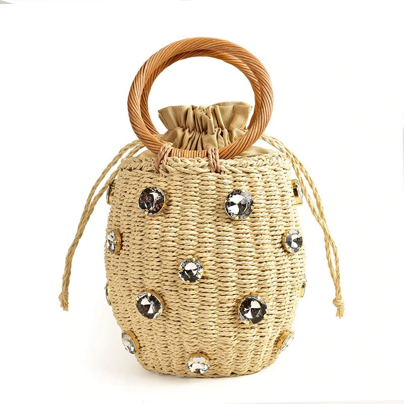 Natural circle straw bag recomment