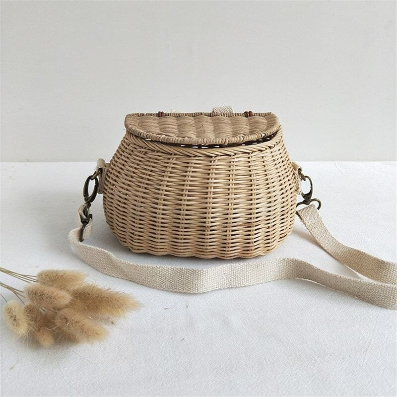 When handle woven leather handbag value
