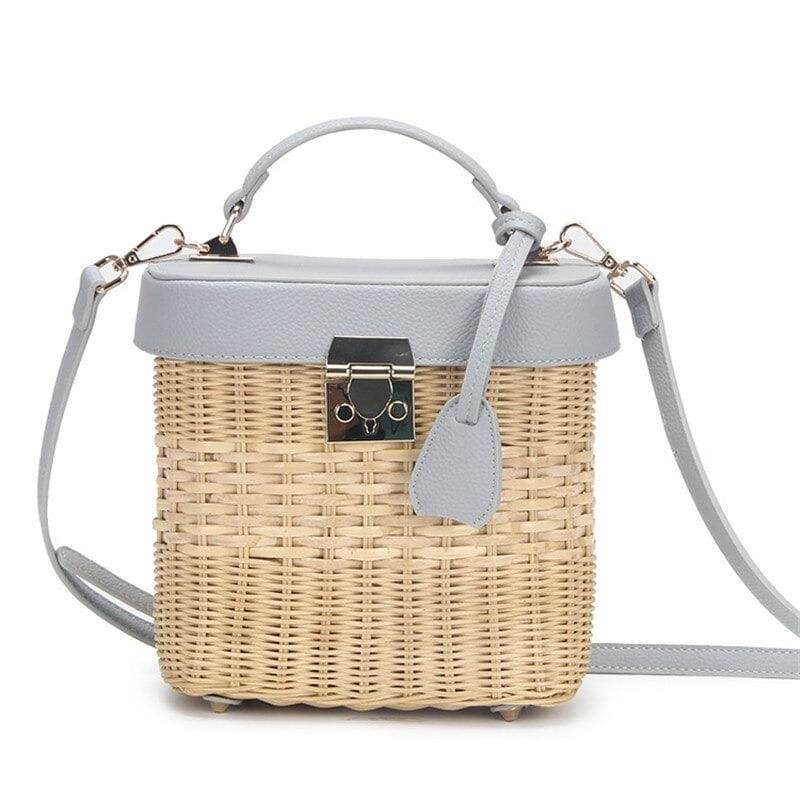Woven leather handbag online better