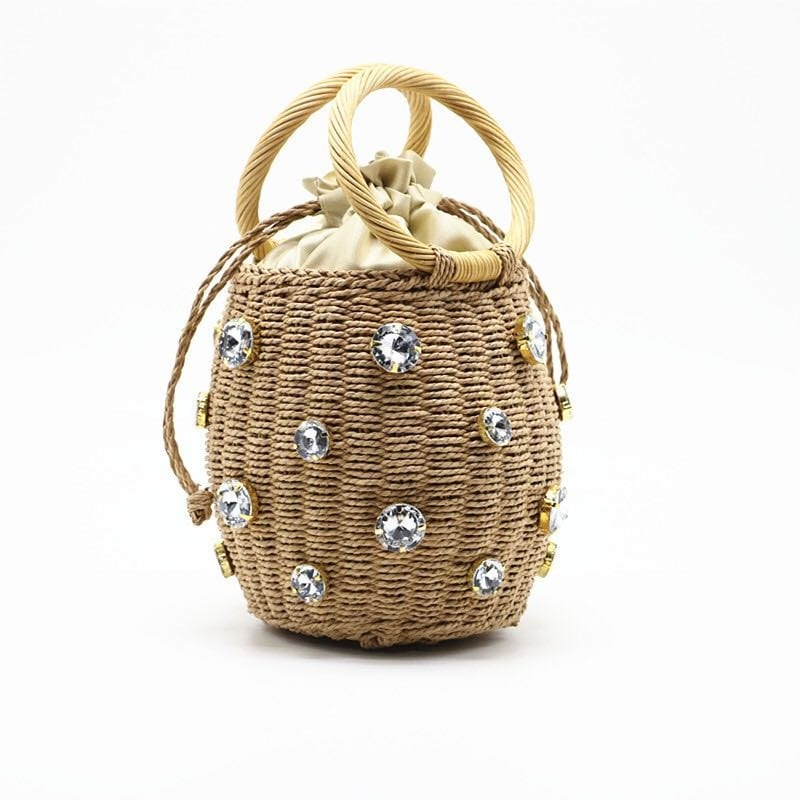 Why native small straw bag top