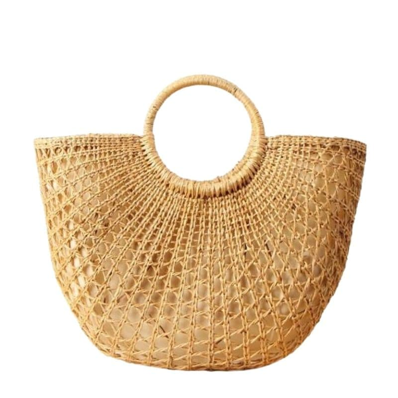 Market wicker handbag