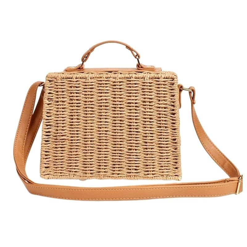 Rattan large straw beach bags