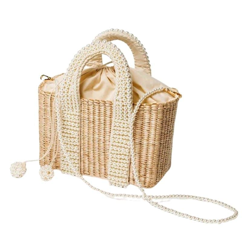 Why shoulder round straw bag top