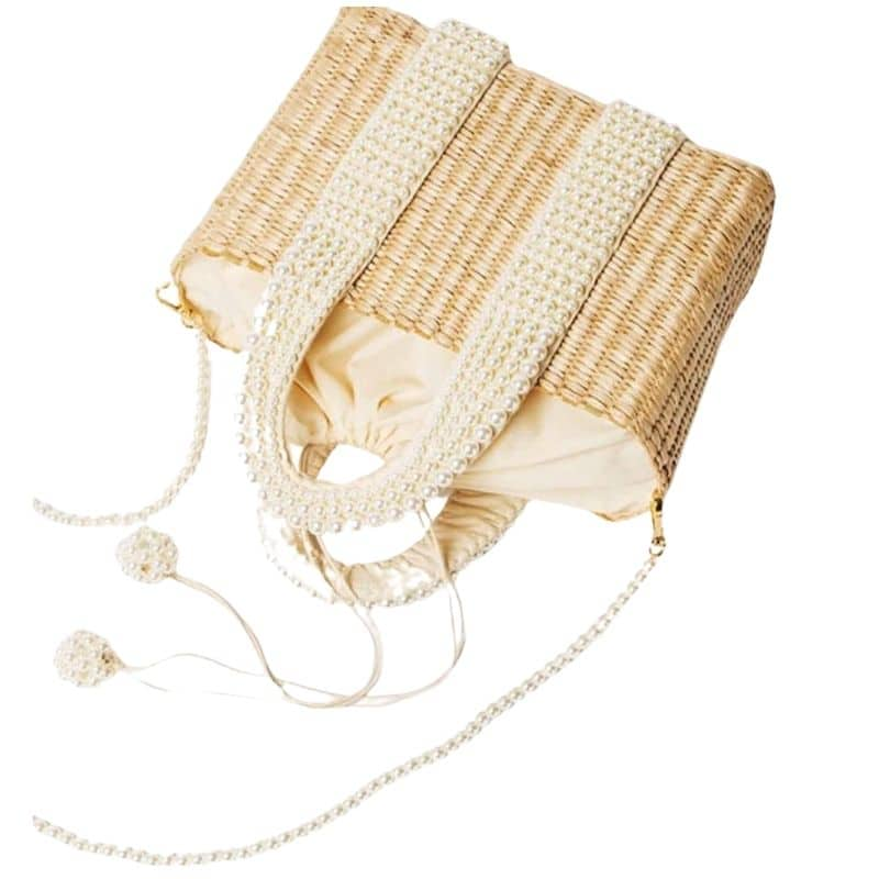 How much wicker beach bag and clutches