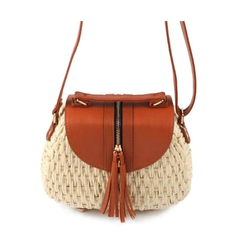 How much shoulder wicker backpack