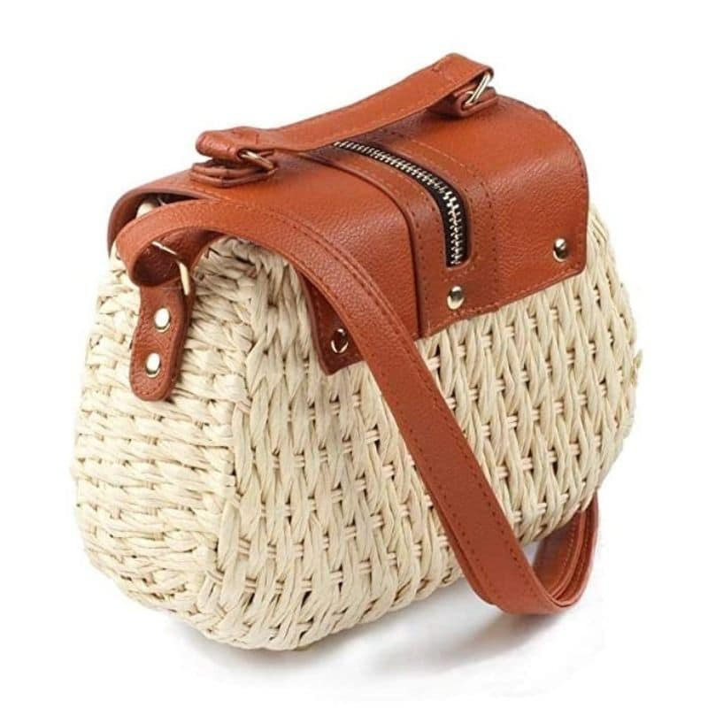 Which bamboo round straw bag 2021