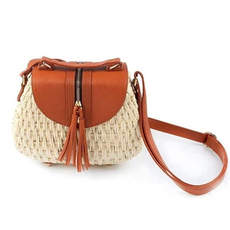 How round straw crossbody bag rattan best