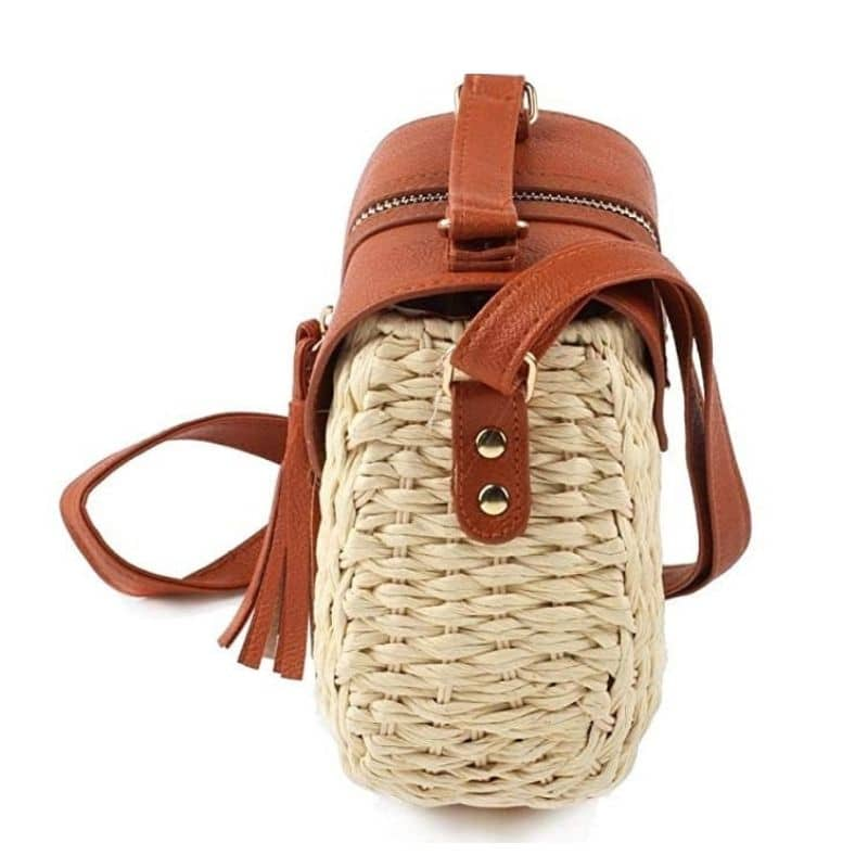 Handle woven bucket bag recomment