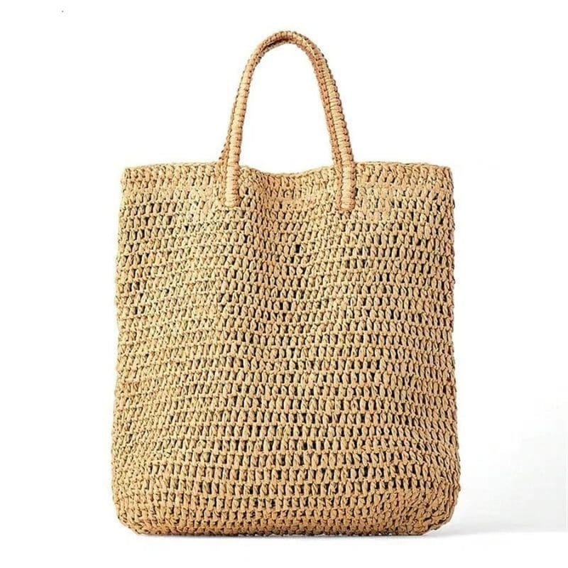 How long knitted summer straw bag better