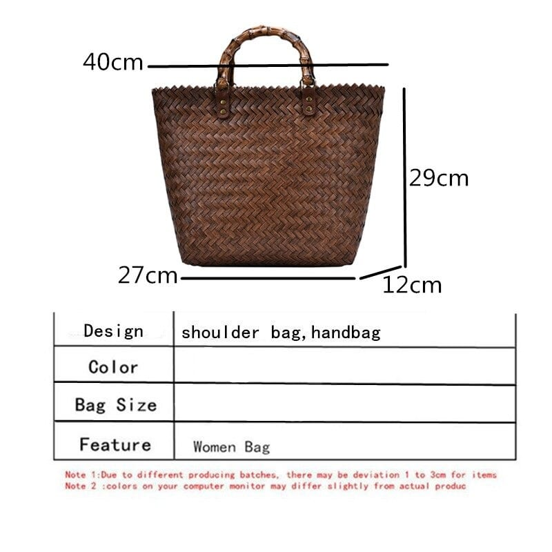 Extra large wicker backpack