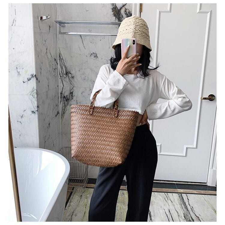 Which luxury straw totes for summer