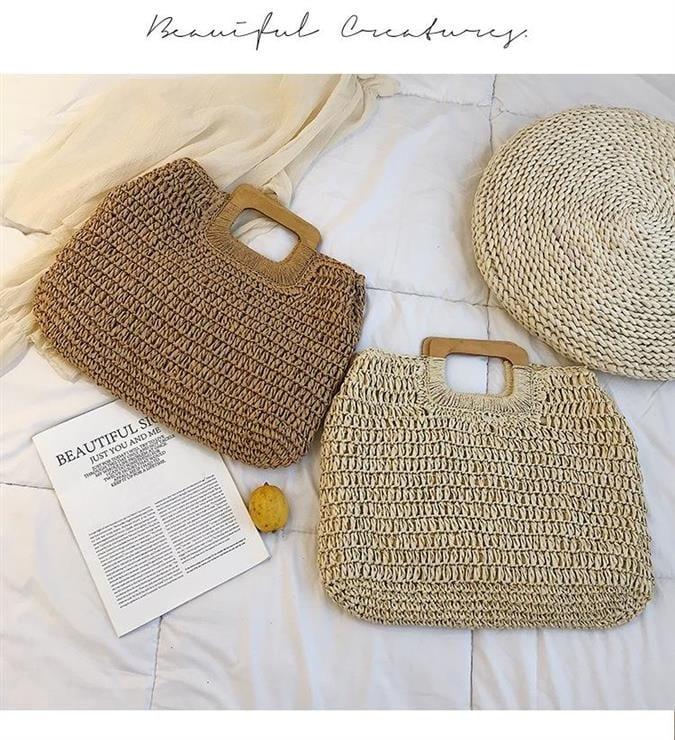 How straw basket bags in bali top