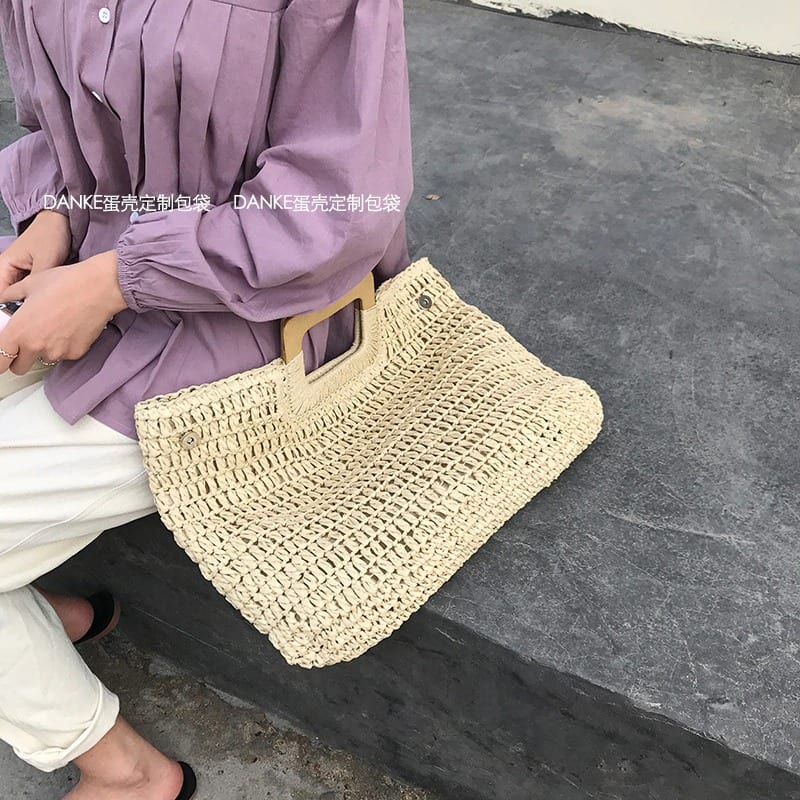 What woven purse large top
